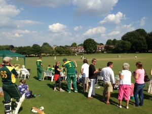 Cheriton Sixes - The spectators discuss