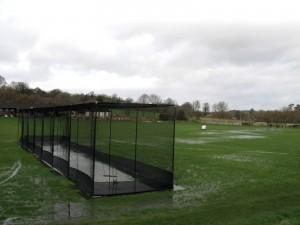 Cheriton Recreation Ground in flood