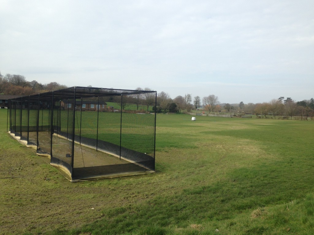 View of the Cheriton Cricket Field after the waters receded in 2014