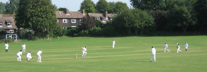 Cheriton Cricket Ground - view from the pavilion